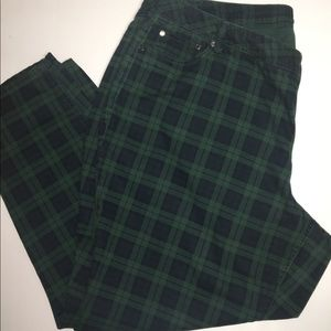Hobo Style Plaid Jeans Size 22W